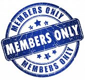 Members only stamp