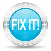 fix it icon, christmas button