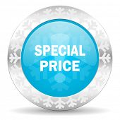 special price icon, christmas button