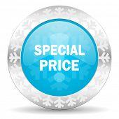 special price icon, christmas button