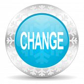 change icon, christmas button