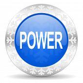 power blue icon, christmas button