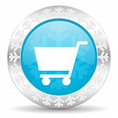 cart icon, christmas button, shop sign