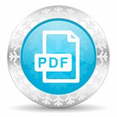 pdf file icon, christmas button