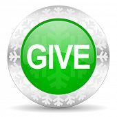 give green icon, christmas button