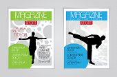 Vector magazine covers. Template.