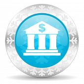 bank icon, christmas button