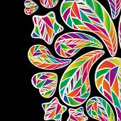 Abstract background with colorful design elements.