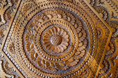 An artistic carved pattern in wood of an islamic arabic nature