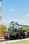 stock photo of former yugoslavia  - steam locomotive in Tuzla region - JPG