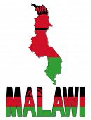 Malawi map flag and text illustration
