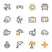 Vacation web icons set