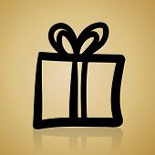 vintage christmas simple gift icon