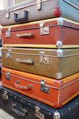 The image of retro style suitcases