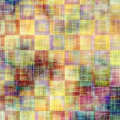 Weathered and distressed grunge background with different color patterns: blue; orange; yellow; brown; purple (violet); green