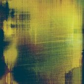 Background in grunge style. With different color patterns: yellow; brown; green