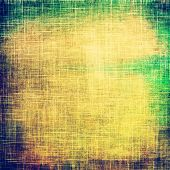 Antique grunge background with space for text or image. With different color patterns: blue; green; yellow