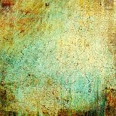 Old abstract grunge background, aged retro texture. With different color patterns: green; brown; yellow