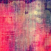 Old, grunge background or ancient texture. With different color patterns: blue; yellow; purple (violet); red
