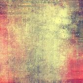 Abstract grunge background of old texture. With different color patterns: green; red; orange; yellow