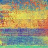 Old, grunge background or ancient texture. With different color patterns: blue; green; orange; yellow