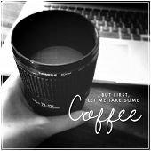 Inspirational Typographic Quote - Coffee