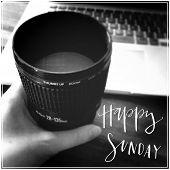 Inspirational Typographic Quote - Happy Sunday