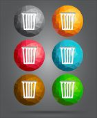 Set Of Icons Recycle Bin