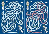 Cartoon Angel Maze