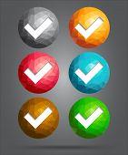 Set Of Icons Checkmark