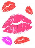 Red and Pink Kisses