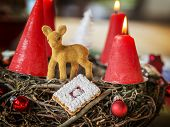 Closeup Advent Wreath
