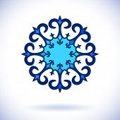 Central asian ornament, Isolated design element, Vector illustration