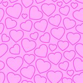Valentines day seamless background with hearts
