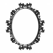Round Carved Vintage Frame For Picture Or Photo