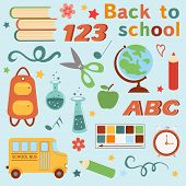 Colorful back to school set