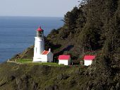 The Light House at Heceta Head near Florence, Oregon.