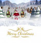 Santa delivery presents to village against border