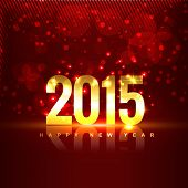 2015 with transparent reflection placed in front of red background