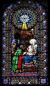 Religious Stained Glass Window