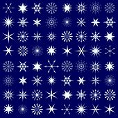 Contrast Seamless Pattern With Snowflakes