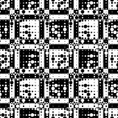 Abstract Pixel Pattern. Vector Seamless Geometric Wallpaper. Regular Monochrome Background