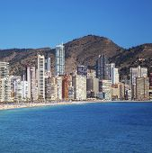 image of costa blanca  - Benidorm under sunny blue skies - JPG