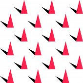 Abstract Triangle Pattern. Vector Seamless Background