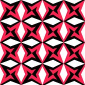 Abstract Star Pattern. Vector Seamless Background