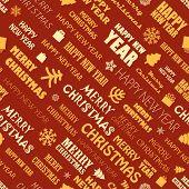 Christmas season elements seamless background. Greeting card elements