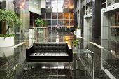 modern office building lobby