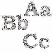 Letters Of Different Fonts