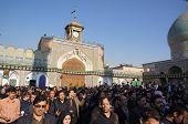 Iranians pray at Shehre Rey Shrine in Tehran