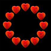Zodiac Signs Hearts